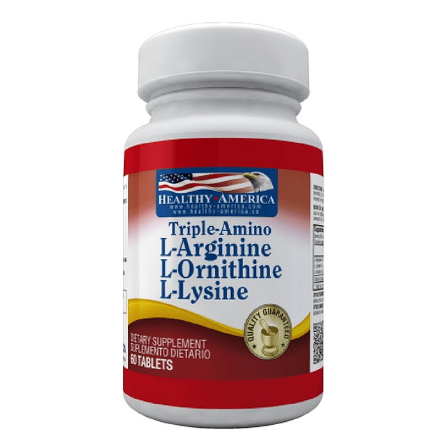 Triple Amino L-Arginina L-Ornitina L-Lysine 60 caplets Healthy America