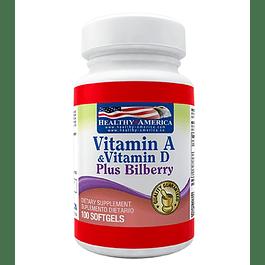 Vitamina A & D 100 softgels  Healthy America