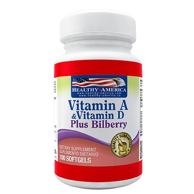 Vitamina A & D 100 softgels  Healthy America