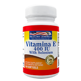 Vitamina E 400 with selenium 100 softgels Healthy America