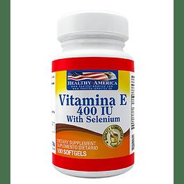 Vitamina E 400 with selenium 100 softgels Healthy America