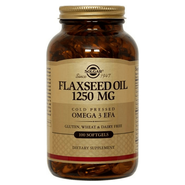 Flaxseed Oil 1250mg 100 softgels Solgar