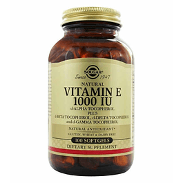 Vitamin E 1000 IU 100 Softgels Solgar