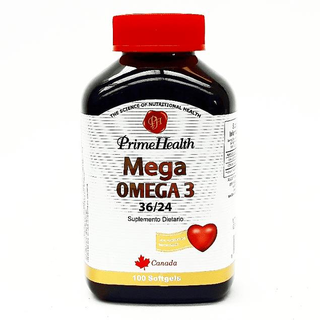 Mega Omega 3 36/24 100 Softgels Prime Health