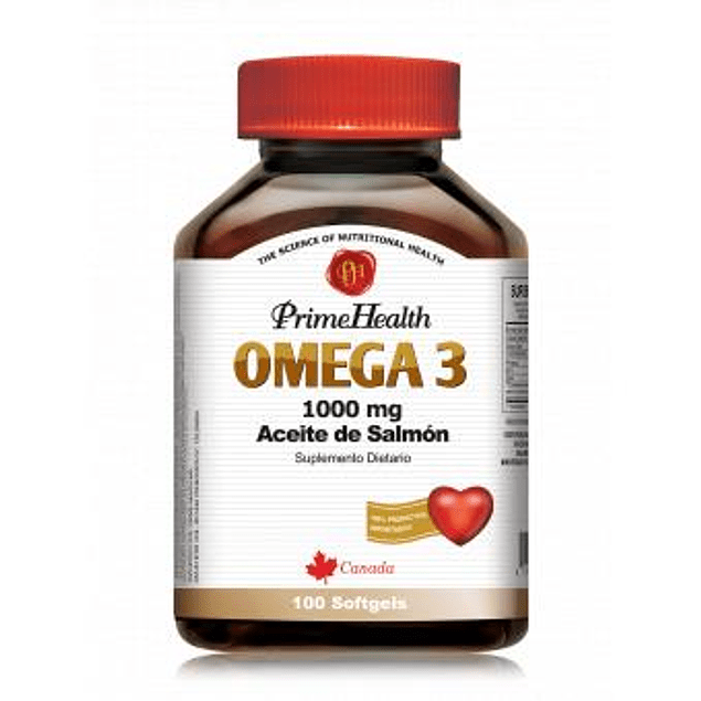 Omega 3 1000mg Aceite de Salmon 100 Softgels Prime Health
