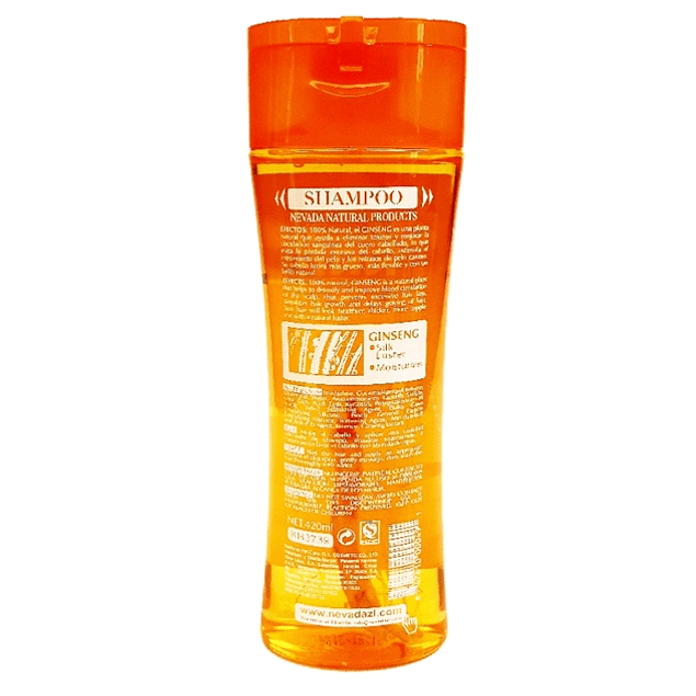 Shampoo de Ginseng Extracto  V-B5  420ml Nevada