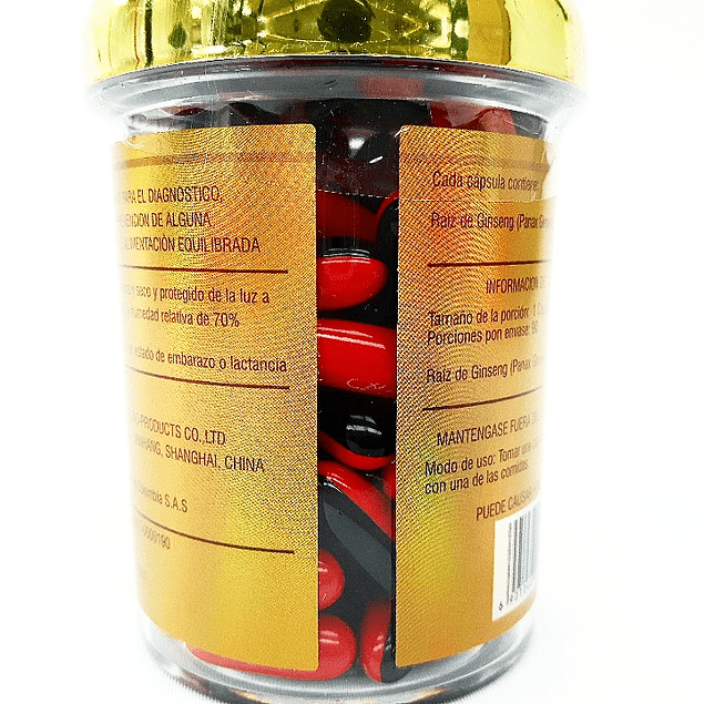 Ginseng  260 mg 90 Capsulas Blandas Liu