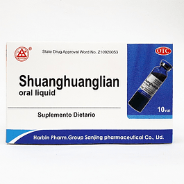 Shuanghuanglian oral liquid  10 ampolletas