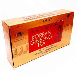 Korean Ginseng TEA 10 cajas 10 bolsas 2 gr