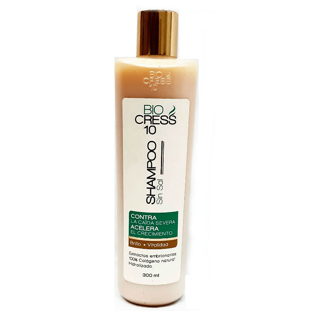 Shampoo Biocress 10 sin sal 300 ml