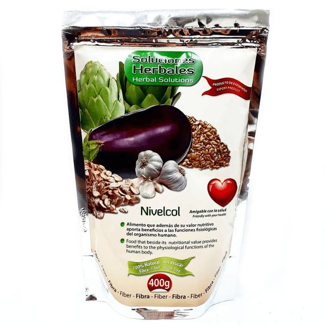 NIVELCOL avena berenjena alcachofa y ajo en polvo 400 mg