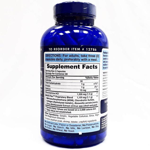 Glucosamine Chondroitin MSM 240 Capsulas Purintans Pride