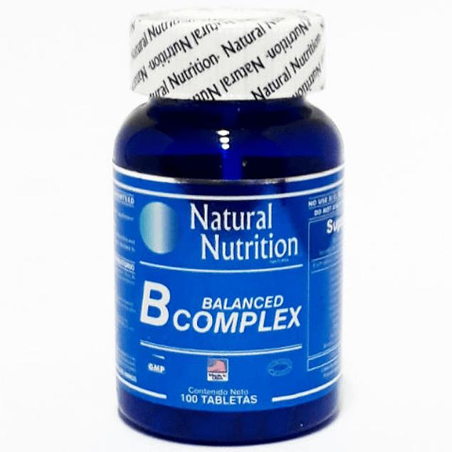 Balanced B Complex 100 Tabletas Natural Nutrition