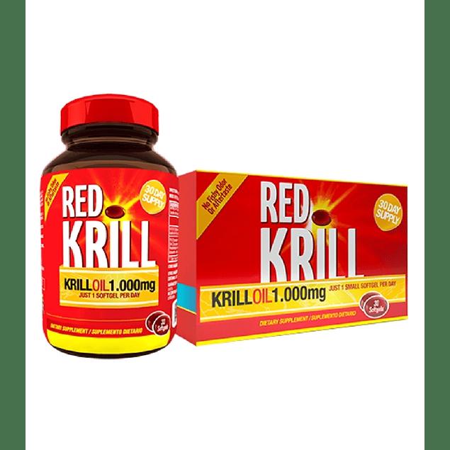 Red Krill 0il 1000 mg 30 Softgels Healthy America