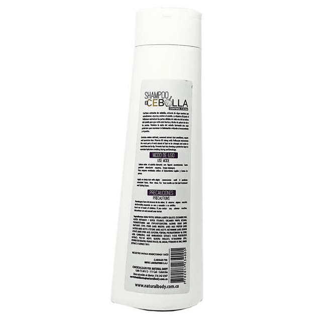 Shampoo de Cebolla Natural Body 400 ml