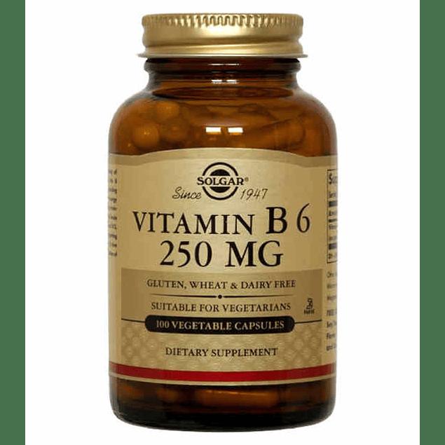 Vitamin B6 250 mg 100 tabletas Solgar