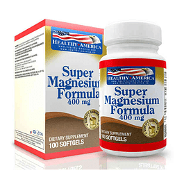 Super Magnesium 400 mg 100 softgels  Healthy America