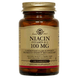 Niacin Vitamina b3 100 mg 100 Tabletas