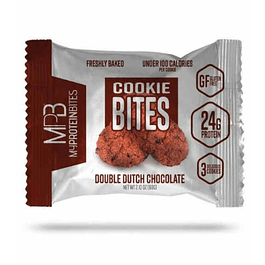 Doble Chocolate Galletas de Proteina Caja 8 paquetes MPB