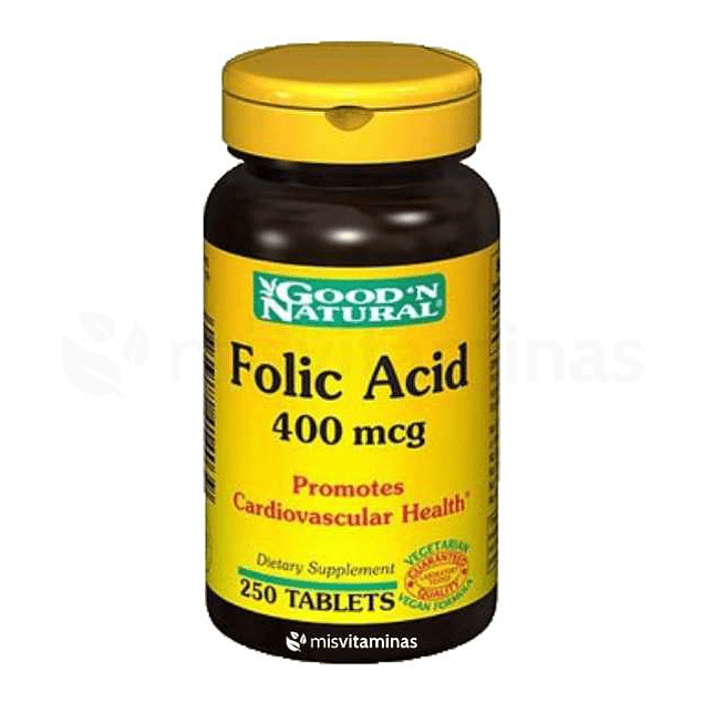 Acido Folico Goodn Natural  400 mcg