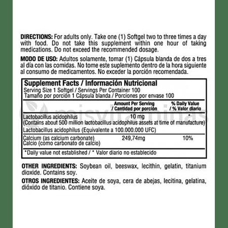 Floraphilus Lactobacillus 10 mg Healthy America