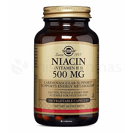 Niacina 500 mg Solgar Vitamina B3