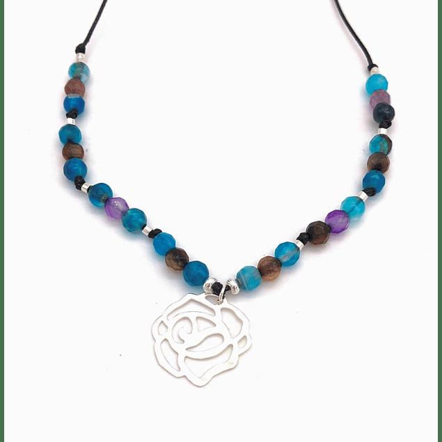 Collar Agata y Mandala #5