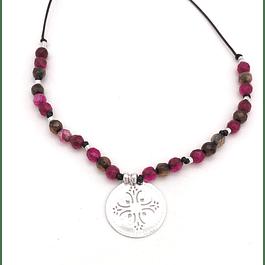 Collar Agata y Mandala #6