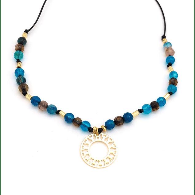 Collar Agata y Mandala #7