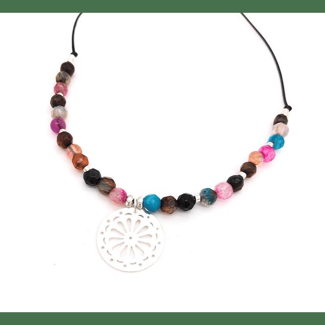 Collar Agata y Mandala #9