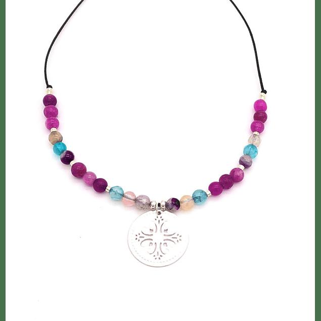 Collar Agata y Mandala #10