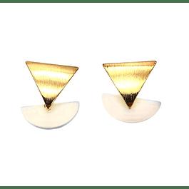 Aro Oro 14k Triangular P.Luna