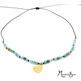 Collar Agata y Mandala #14