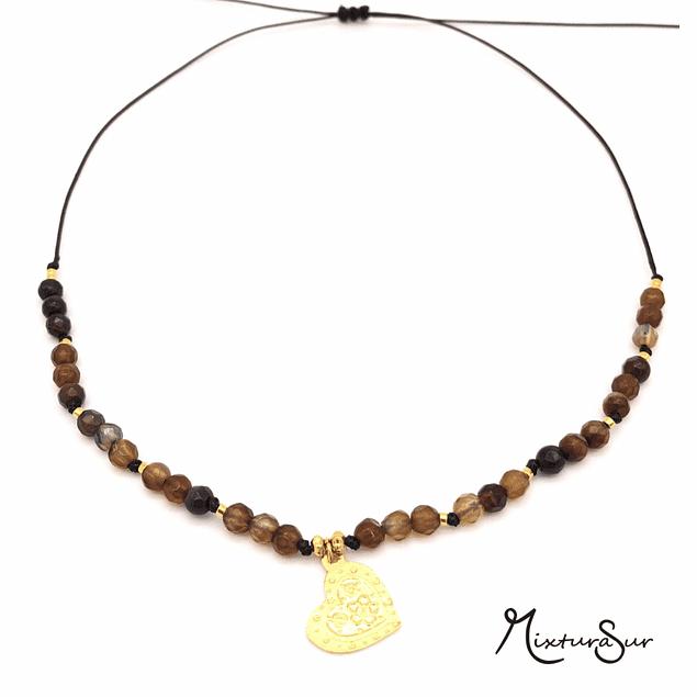 Collar Agata y Mandala #15
