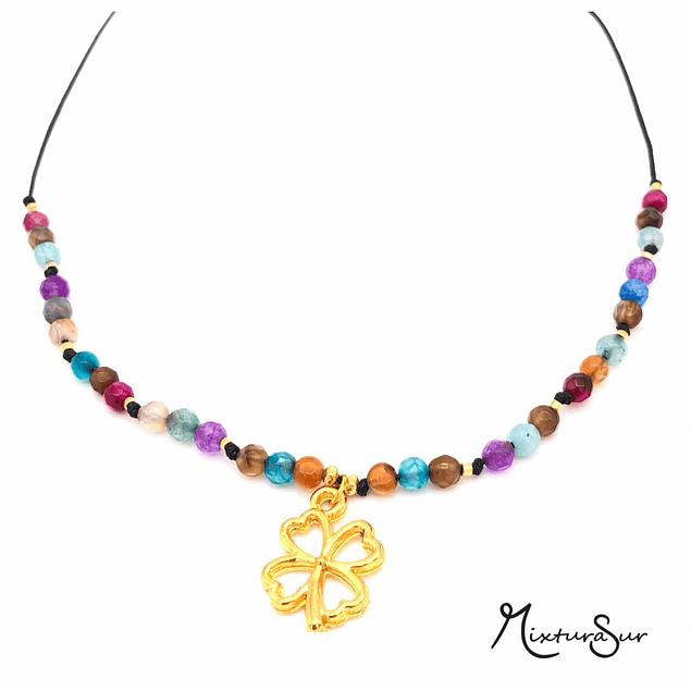 Collar Agata y Mandala #4