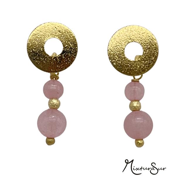 Aro Oro Cuarzo Rosa