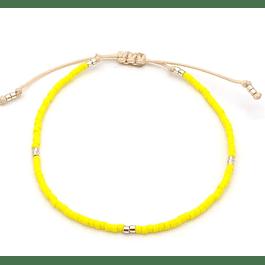Pulsera Amarillo Fluo #60