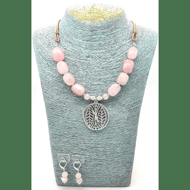 Conjunto grande Cuarzo Rosa