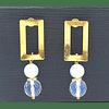 Aros Oro 14 rectangulares