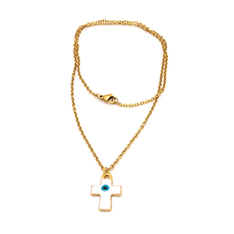 Collar cruz Oro 14k