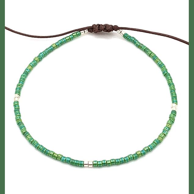 Pulsera Verde esmeralda #102