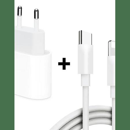 Pack Cable Lightning a usb-C + Adaptador 18w
