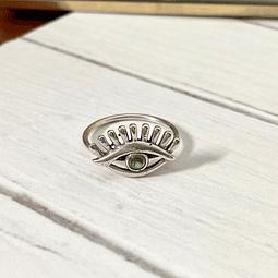 Anillo ojo piedra