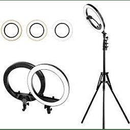 Aro de luz de 33 cm de diámetro + Trípode de 2m