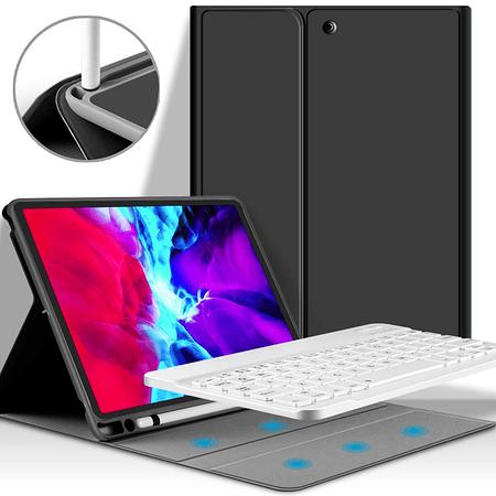 """Funda + Teclado iPad Pro 12,9"""" - Ranura Apple Pencil (Color: Negro)"""
