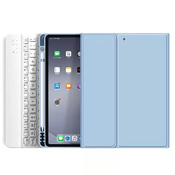 "Funda + Teclado iPad Pro 11"" 2020 - Ranura Apple Pencil (Color: Celeste)"