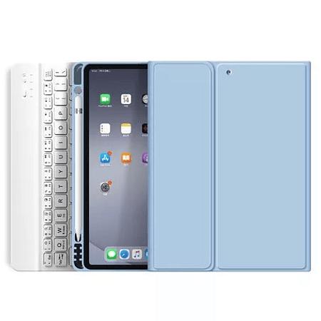 """Funda + Teclado iPad Pro 11"""" 2020/2021 M1 - Ranura Apple Pencil (Color: Celeste)"""