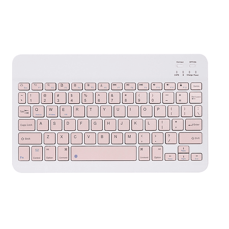 Teclado Bluetooth Rosa (Compatible con dispositivos Bluetooth: iPad, Tablet, Pc, Notebook)
