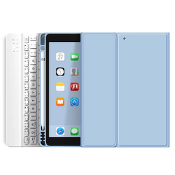"Funda + Teclado iPad 10,2"" - Ranura Apple Pencil (Color: Celeste)"