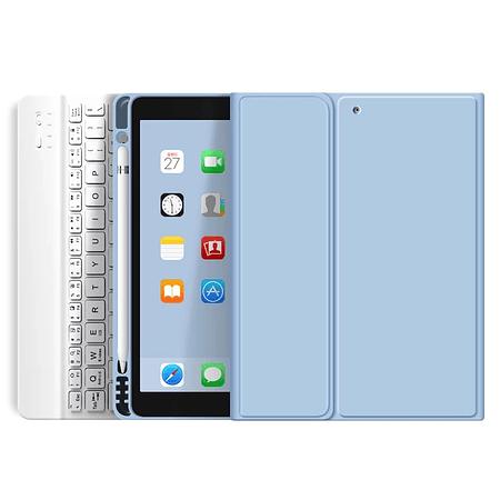 """Funda + Teclado iPad 10,2"""" - Ranura Apple Pencil (Color: Celeste)"""